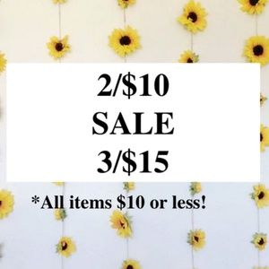 $5 each for all items $10 or less!